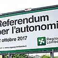 Le vote en Lombardie et Vénétie