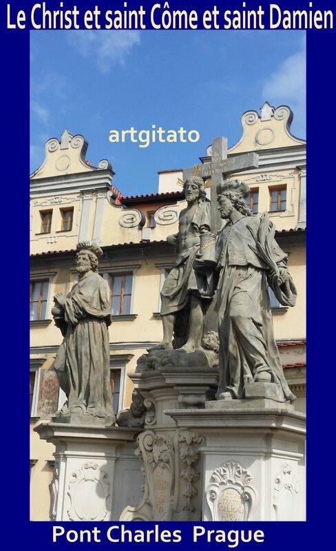 Saints Côme et Damien avec le Christ Artgitato Pont Charles Prague