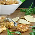 NUGGETS DE POULET AUX <b>CHIPS</b> AU CITRON