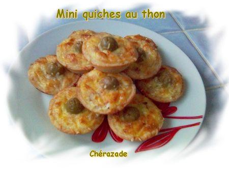 recettes  Mini quiches au thon