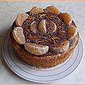 Cheesecake zebré au butternut, clémentine & chocolat