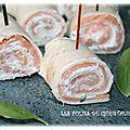Wraps au <b>saumon</b> <b>fumé</b>