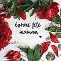 ▼▲ Carte Fête des Mères ▼▲ (à Télécharger + Printable) ♥ Peonies ♥ Classique et Polaroïd ▼