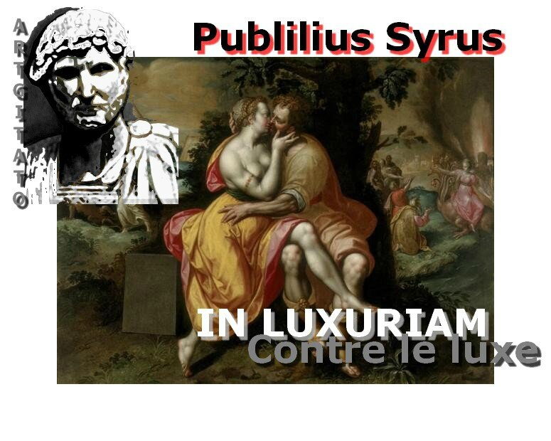 Publilius Syrus Contre la luxure In Luxuriam Argitato