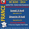 Masters International de judo <b>Tours</b> 2014
