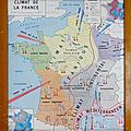 <b>Collection</b> ... Carte scolaire CLIMAT DE LA FRANCE / CÔTES DE L'ATLANTIQUE