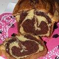 Cake <b>marbré</b> façon savane