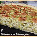<b>Tarte</b> aux <b>Poireaux</b> et au Saumon fumé