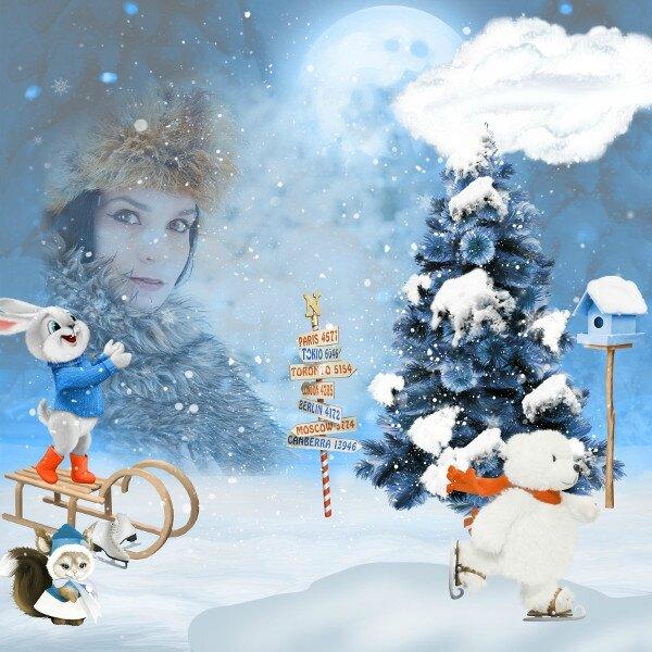 kITTYSCRAP - Jeu d'hiver au pôle Nord - photo Pixabay