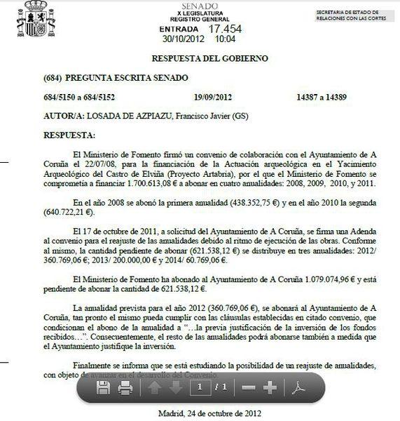 RESPOSTA GOBERNO A LOSADA 121030