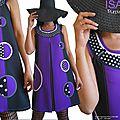 Robe <b>Trapèze</b> d'esprit Vintage année 70 : la Robe Tunique Chasuble Graphique Originale.