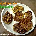 Galettes de carottes, courgettes et oignon (<b>VEGAN</b>)