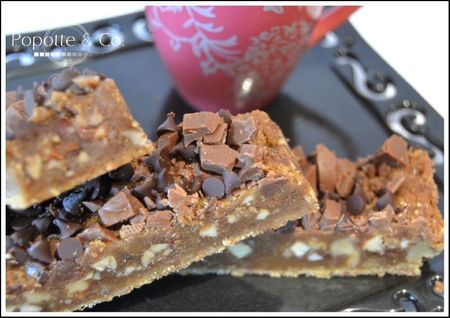 recettes  English toffee bars