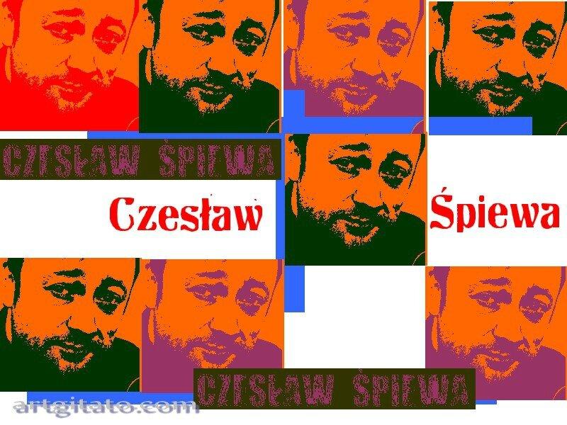 CZESLAW SPIEWA Portrait portret Chanteur Polska Pologne Poland