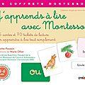 J'apprends à lire avec Montessori Ed. Eyrolles
