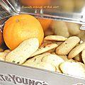 biscuits orange et thé vert