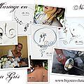 <b>Mariage</b> en noir - robe de mariée noir ou gris et bijoux <b>mariage</b> noir