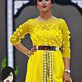 <b>Caftan</b> haute couture jaune demi-saison <b>2015</b>