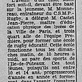 1959 -60 , les premiers matchs du C.S.M. Puteaux <b>rugby</b>, suite...