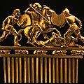 Scythian culture, <b>Comb</b> with battle scene, 490-390 BC