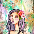 whimsical girl with paper flowers new video