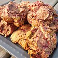 Un tour en cuisine 259: Cookies framboises et beurre de cacahutes