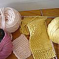 Atelier encadré Tricot : lavettes et cotons démaquillants