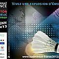 Dix bonnes raisons d'aller faire un tour au <b>championnat</b> de <b>France</b> de badminton de Saint-Brieuc (du 1er au 3 février 2013)