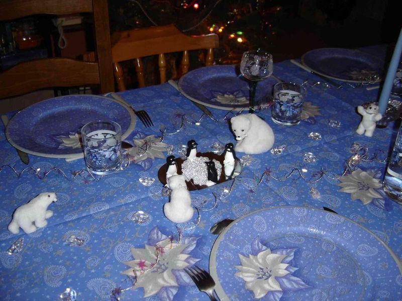 Nouvel an 2006 la banquise po tiquement gourmande - Table de nouvel an deco ...