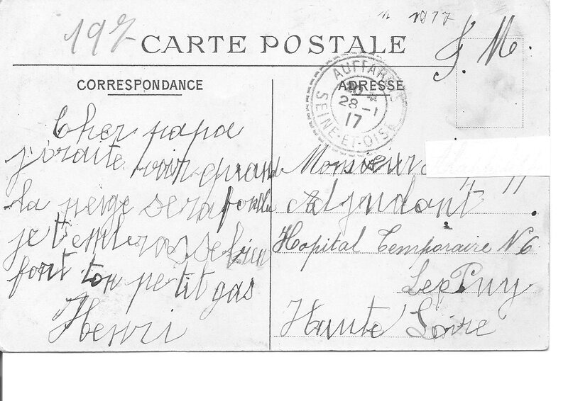 Courrier 1917