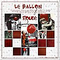 Le ballon rouge Scrap <b>digital</b> de Kokhine