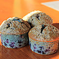 Muffin <b>myrtille</b> , crumble cannelle