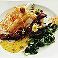 Filet de colvert, scorsonères rôtis et béarnaise aux algues recette de La Table Du Connetable.....