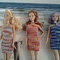 Creation d'habits en tissus et en tricot pour Barbie et compagnie
