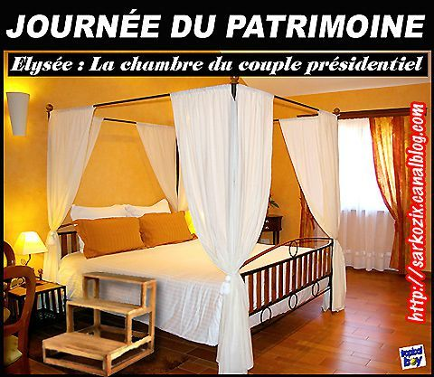humour journ e du patrimoine entrez dans la chambre pr sidentielle de l 39 elys e le blog de. Black Bedroom Furniture Sets. Home Design Ideas