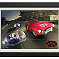 Mercedes 300SL & <b>Ferrari</b> 250 S aux 24 H du Mans 1952