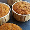 Muffins aux carottes, amandes, noisettes (sans gluten et sans lactose)