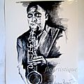 <b>AFFICHES</b> RAY CHARLES ET CHARLIE PARKER