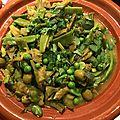 Tajine de légumes de printemps au citron <b>confit</b> et olives vertes