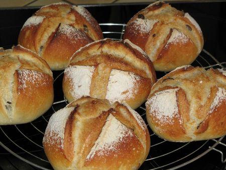 Petits pains aux graines de courge 9