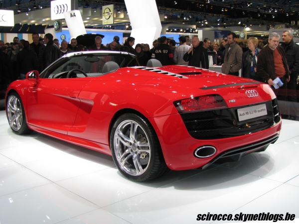 audi r8 spyder rrradieux cabriolet scirocco red passion. Black Bedroom Furniture Sets. Home Design Ideas