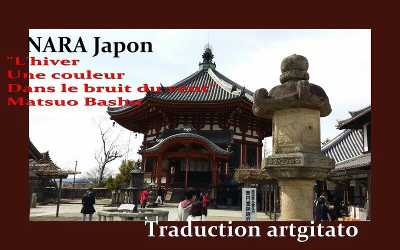 Nara Japon Basho haiku Artgitato traduction française