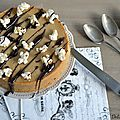 Cheesecake au caf & <b>pop</b> <b>corn</b>