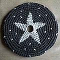 frisbee étoile argentée