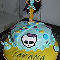 Gateaux Monster high en pâte à sucre
