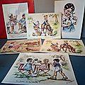 D'anciennes <b>illustrations</b> de Germaine Bouret...