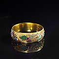 Bracelet en or. Chine, époque Qing (1644 - 1911)