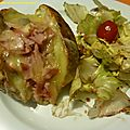 Jacket potatoe jambon-champignon-fromage