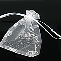 Lot de sachets organza blancs avec papillons