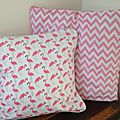 <b>Coussin</b> Flamants roses